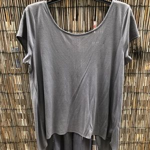 Grey American Eagle Loose Fitting T-Shirt